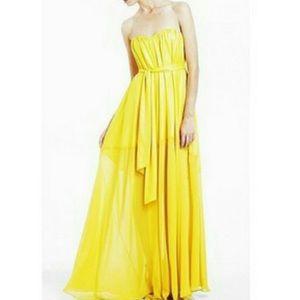 Beautiful yellow bcbg dress